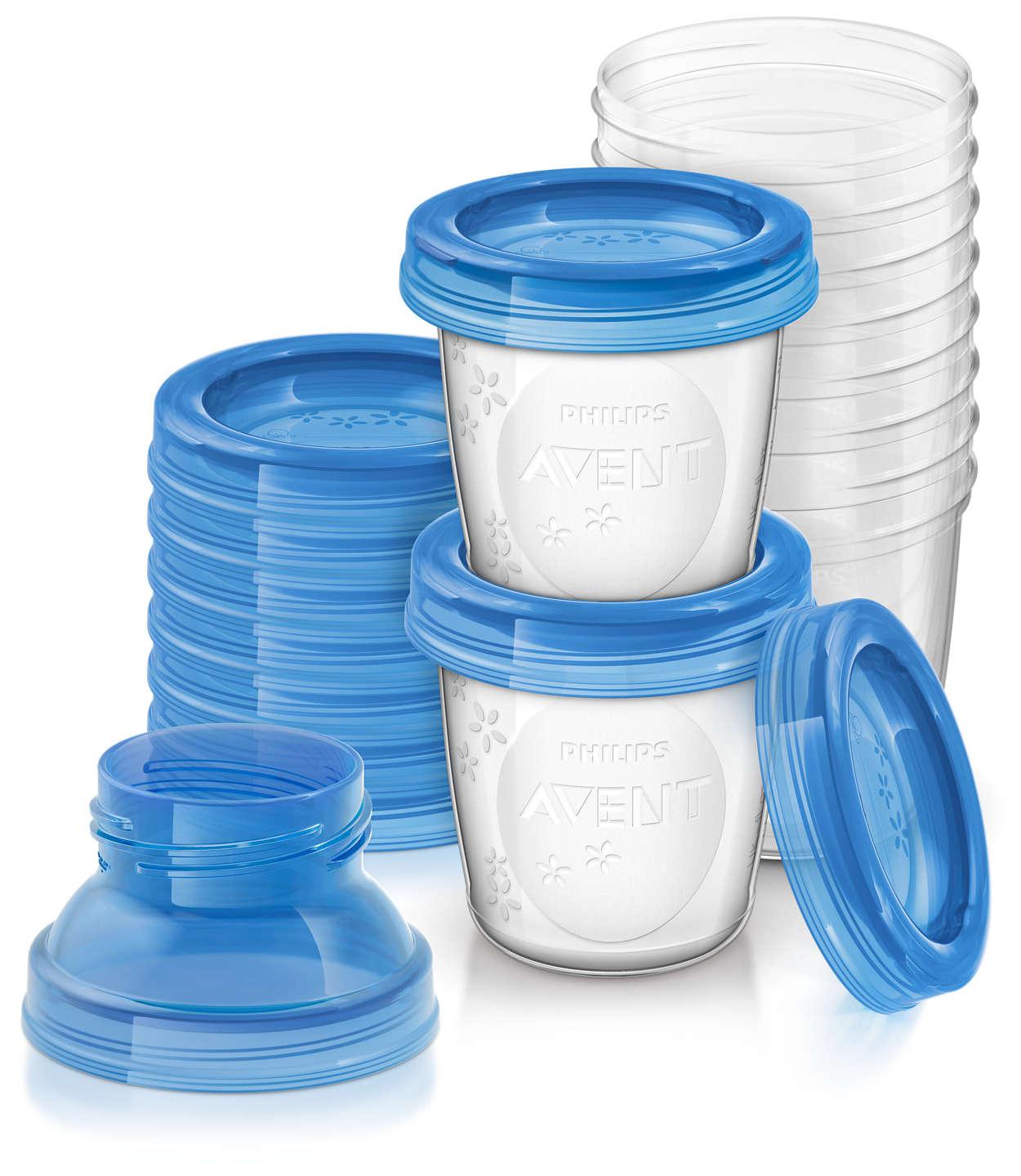 Avent VIA zásobníky na mateřské mléko 10 ks + VIA adaptér 2x