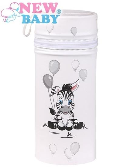 Termoobal Jumbo na kojeneckou lahev - Zebra barva: bílá