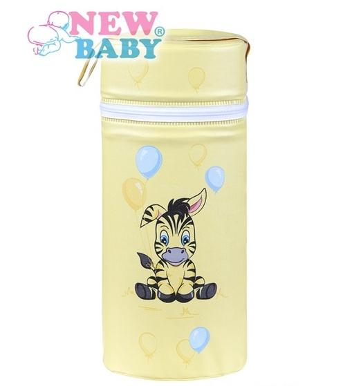 Termoobal Jumbo na kojeneckou lahev - Zebra barva: žlutá