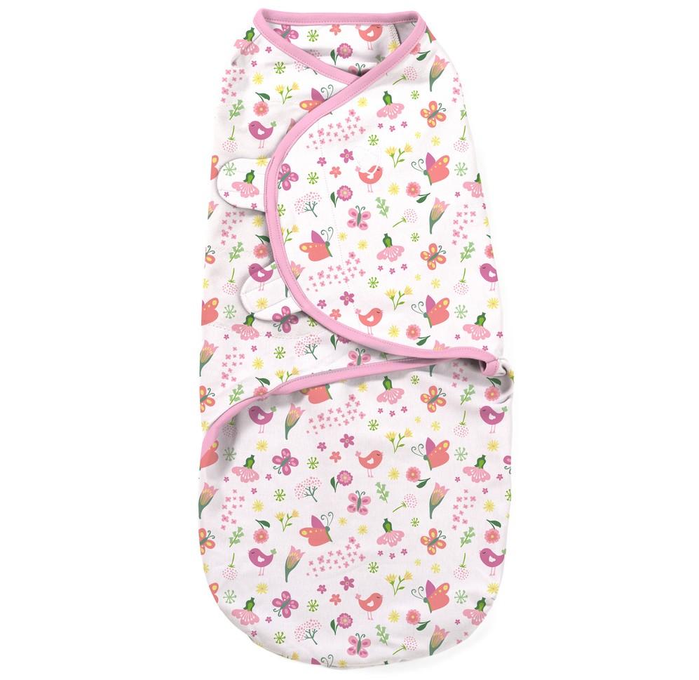 Summer Infant SwaddleMe zavinovačka - květinky/motýlci velikost: L (6,4-8,2Kg)
