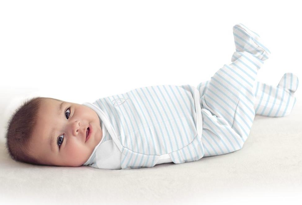 Summer Infant SwaddleMe zavinovačka Footsie - modrý proužek