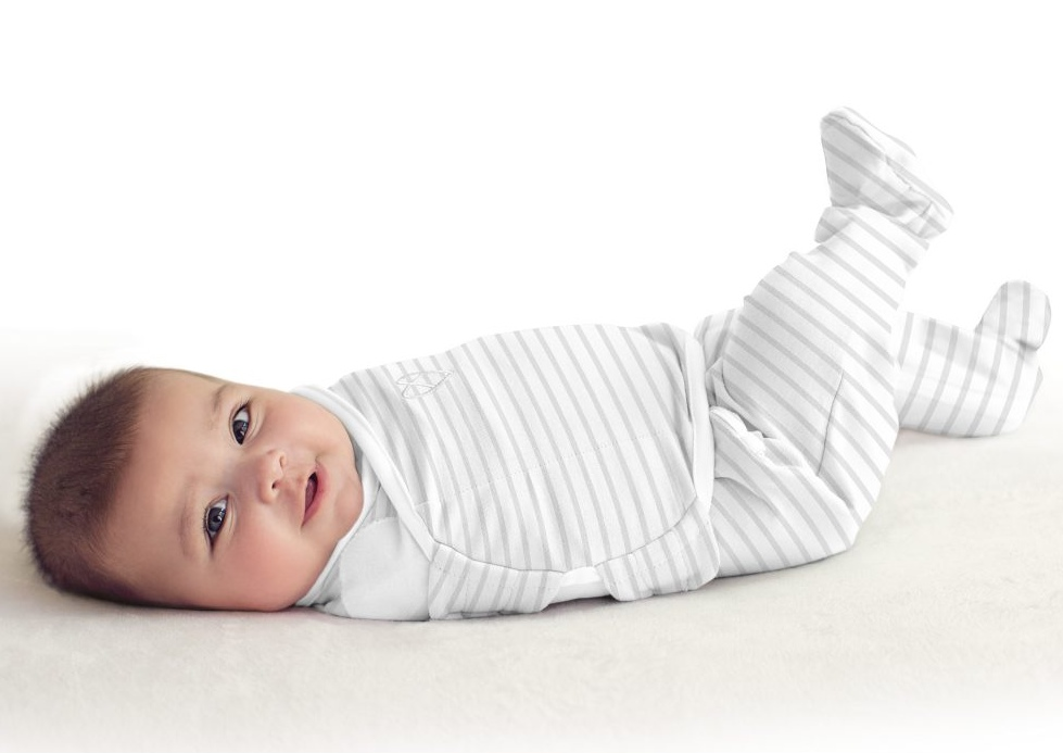 Summer Infant SwaddleMe zavinovačka Footsie - šedý proužek