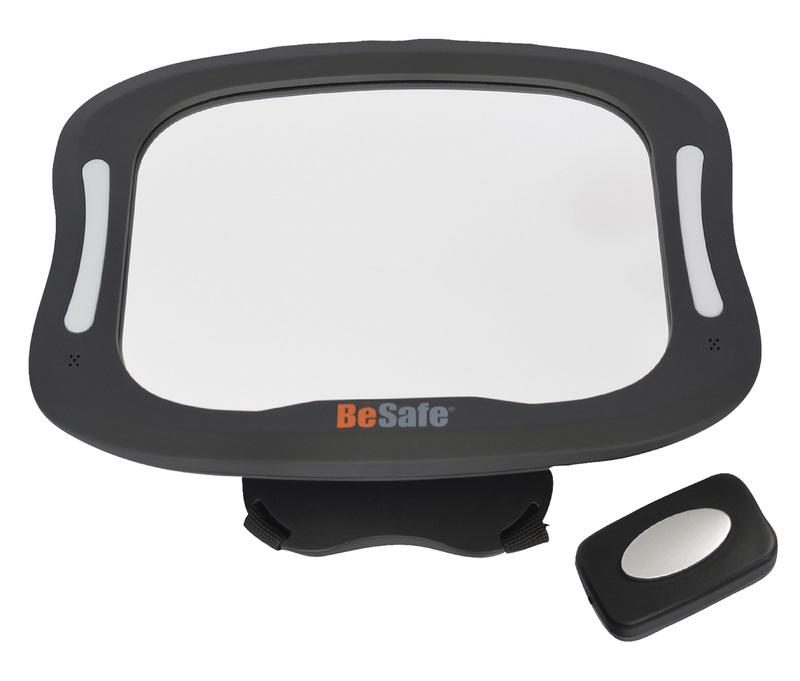 BeSafe přídavné zrcátko do auta Baby mirror XL s osvětlením
