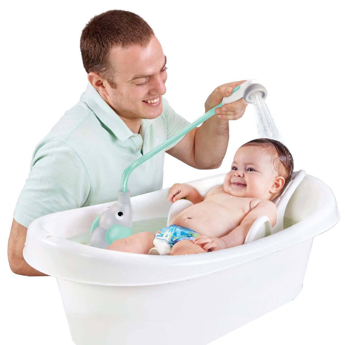 Yookidoo dětská sprcha slon barva: šedo-tyrkysová