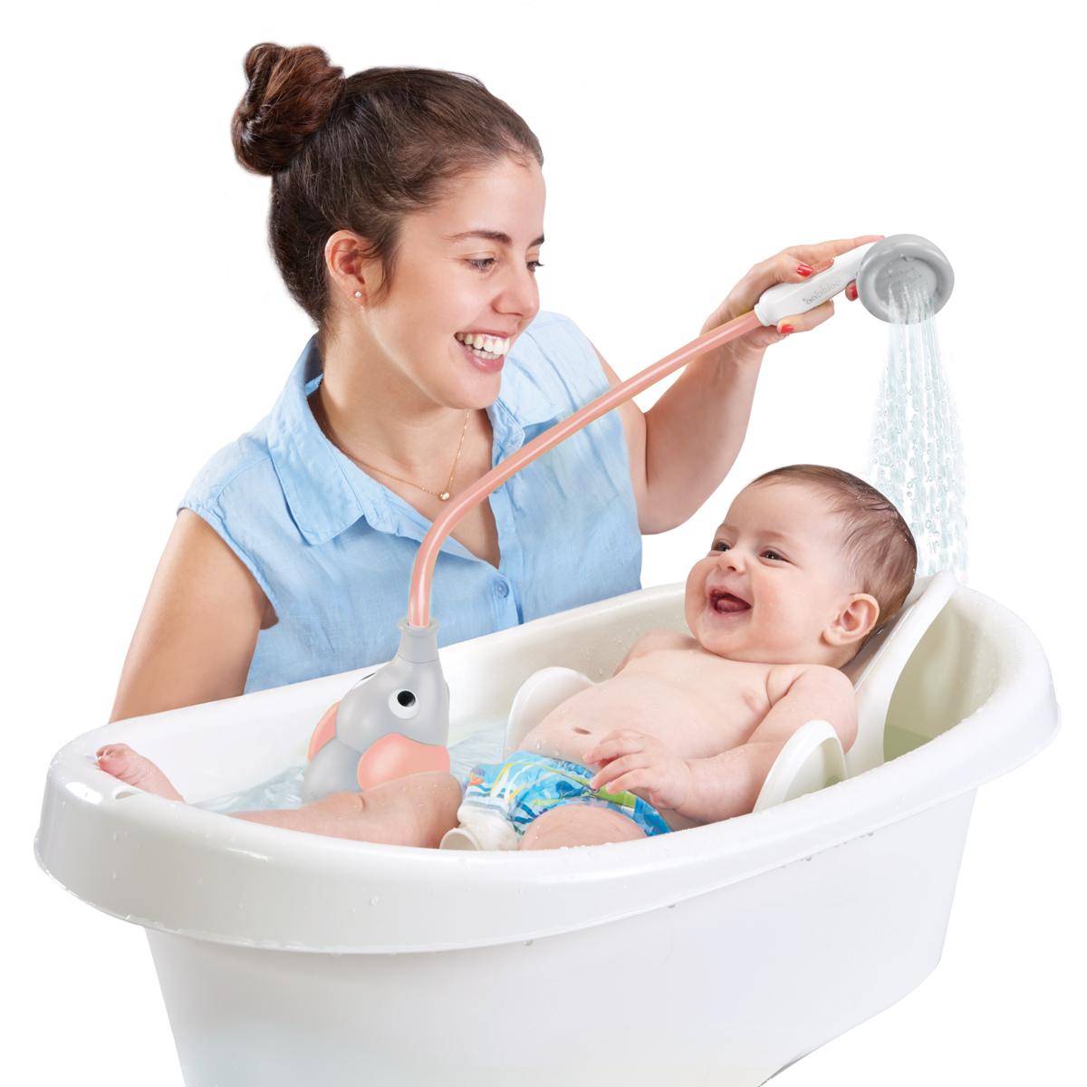 Yookidoo dětská sprcha slon barva: šedo-růžová