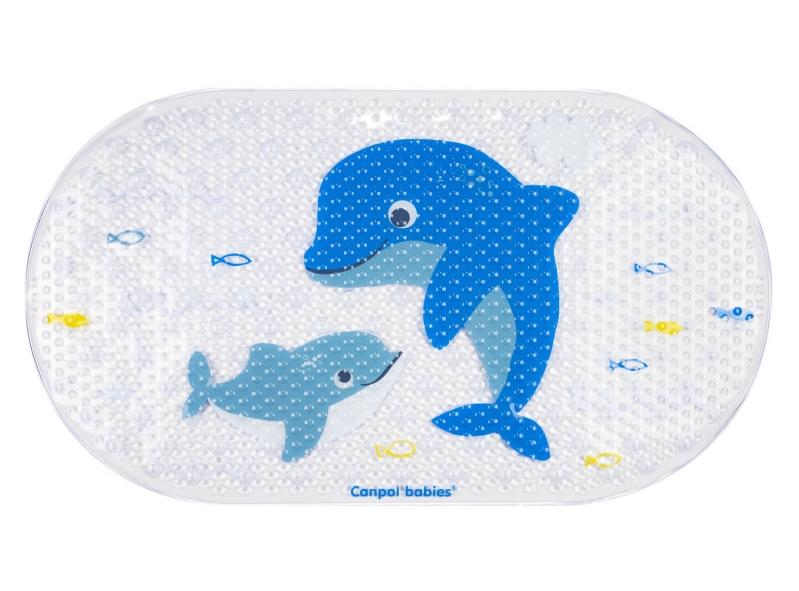 Canpol babies protiskluzová podložka do vany - mořský svět obrázek: delfín