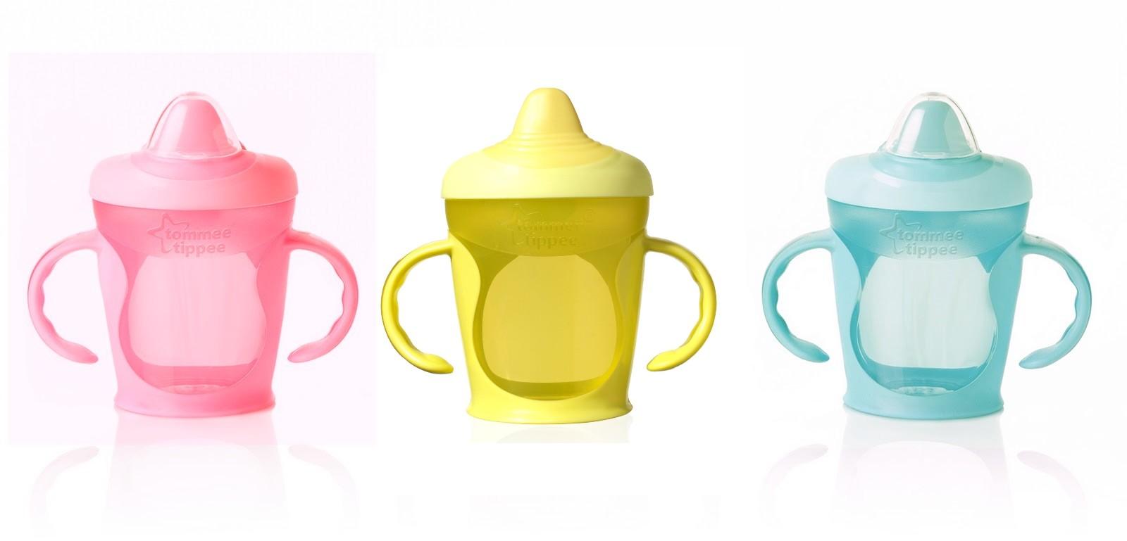 Tommee Tippee netekoucí hrneček Explora s držadly 260 ml barva: žlutý