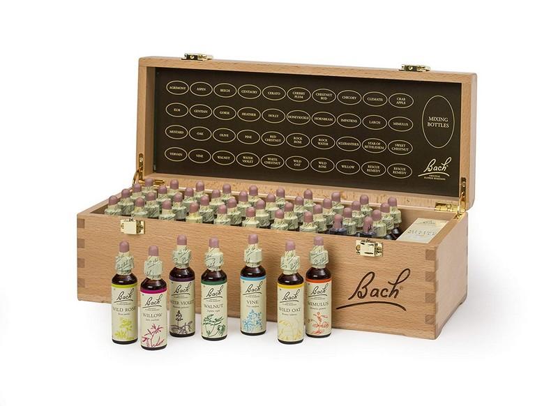 Bachovy originální květové esence kompletní set 20 ml v dřevěném boxu -Doprava zdarma