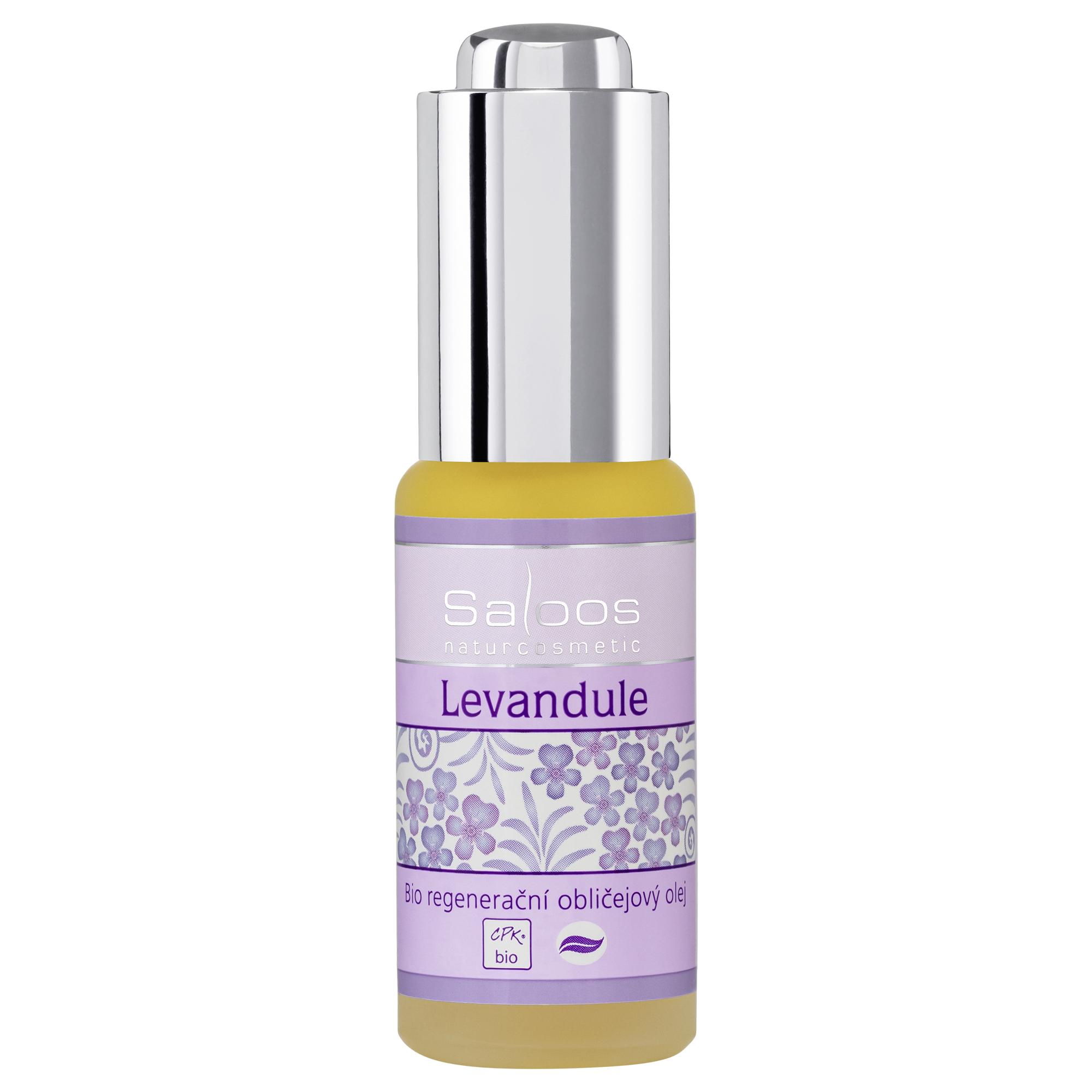 Regenerační obličejový olej LEVANDULE 20ml Saloos