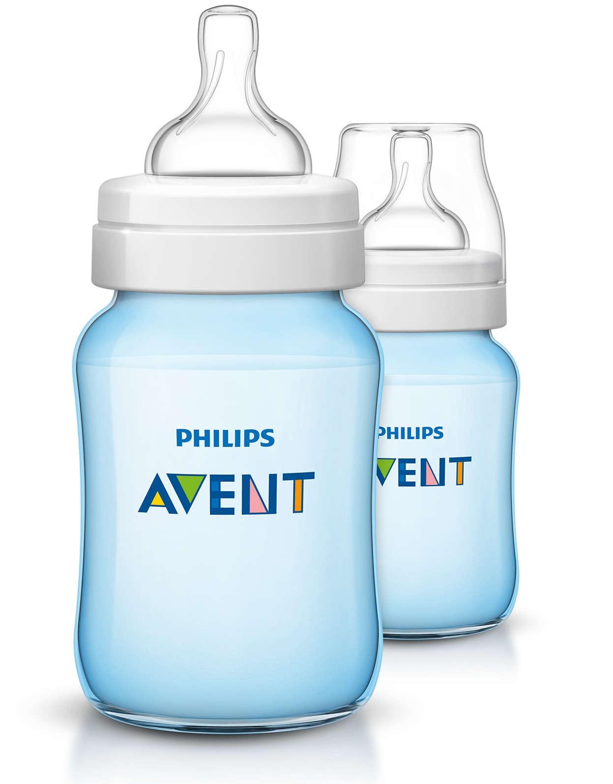 Philips Avent Kojenecká láhev Classic+ 260ml - 2ks modré