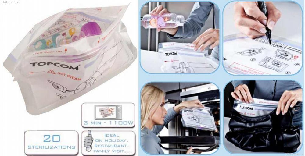 Topcom Sterilizační vak do mikrovlnné trouby 3ks