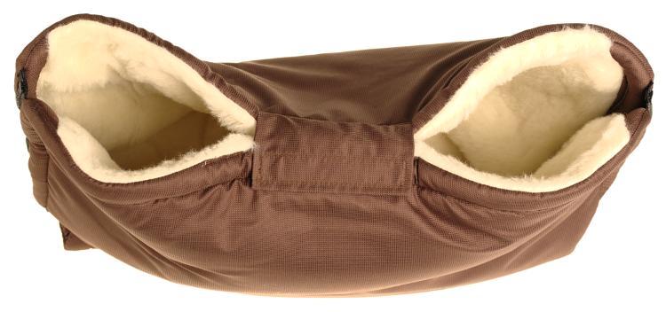 Kaarsgaren Merino rukávník na kočárek z ovčí vlny barva: hnědý