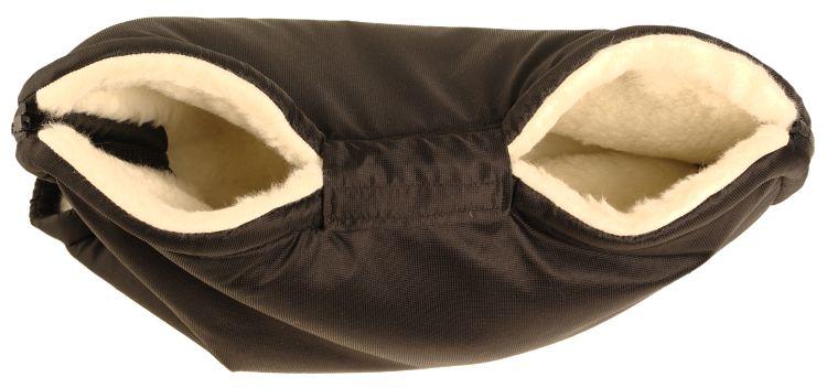 Kaarsgaren Merino rukávník na kočárek z ovčí vlny barva: černý