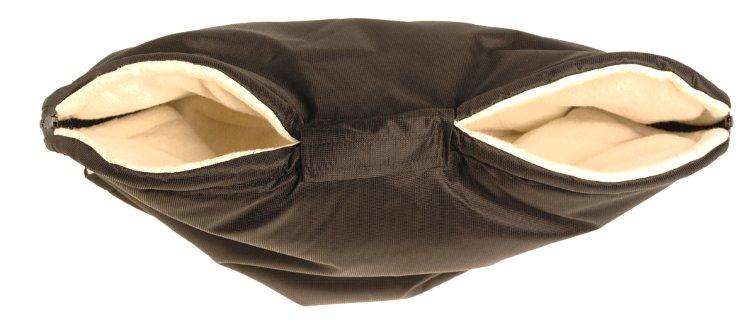 Kaarsgaren rukávník na kočárek s beránkem z biobavlny černý