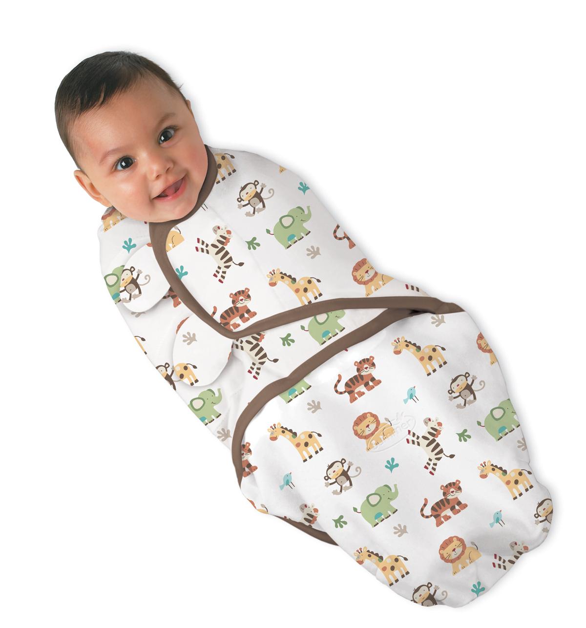 Summer Infant SwaddleMe zavinovačka - zvířátka z džungle - Doprava zdarma velikost: L (6,4-8,2Kg)