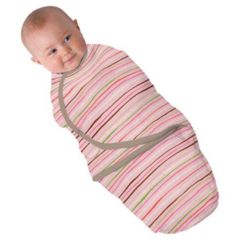 Summer Infant SwaddleMe zavinovačka - růžový proužek velikost: S (3,2-6,4kg) od narození do cca 3 měsíců