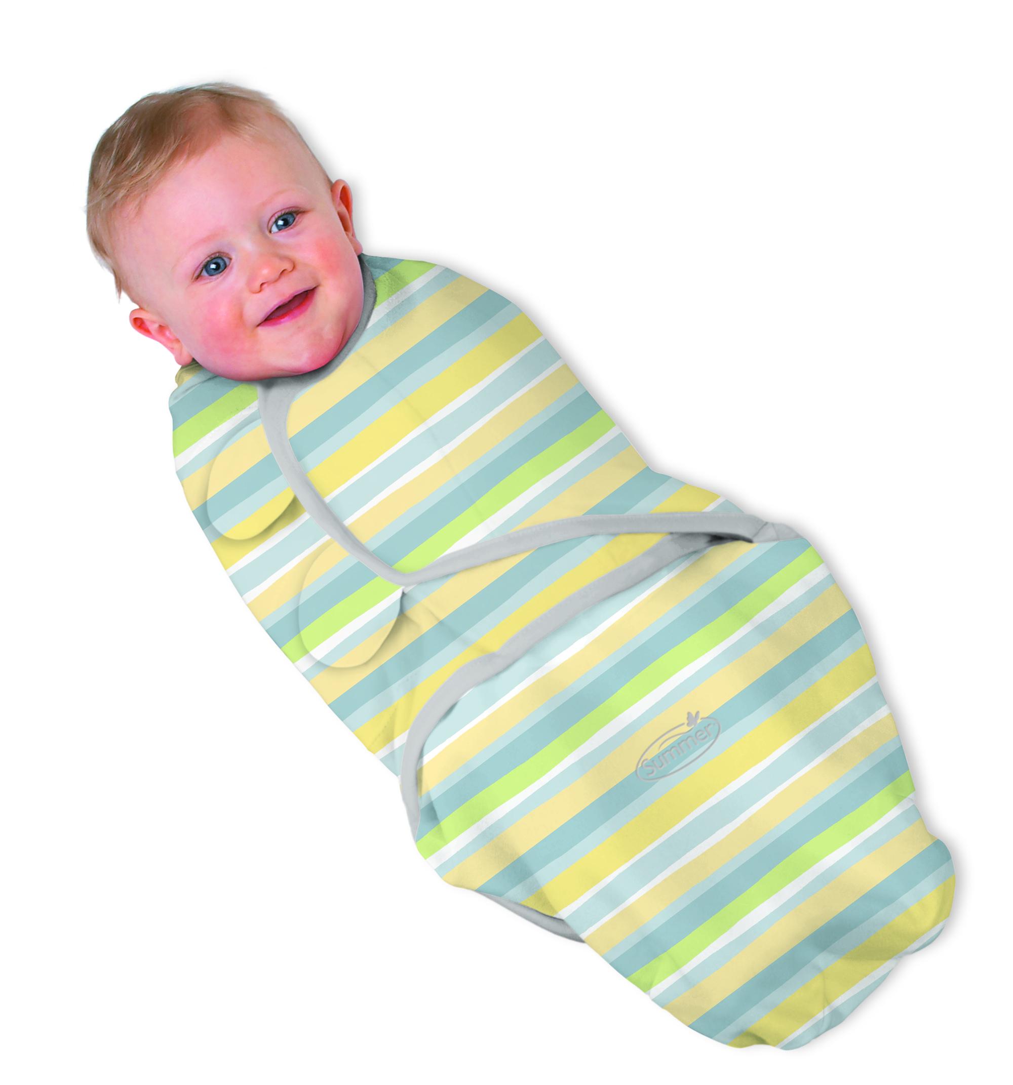 Summer Infant SwaddleMe zavinovačka - zelený proužek - Doprava zdarma velikost: S (3,2-6,4kg) od narození do cca 3 měsíců