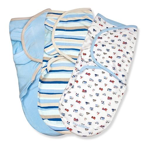 Summer Infant SwaddleMe zavinovačka sada 3ks modrá - Doprava zdarma velikost: S (3,2-6,4kg) od narození do cca 3 měsíců