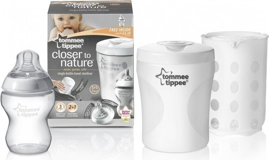 Tommee Tippee cestovní sterilizátor na kojeneckou láhev C2N (včetně lahvičky)