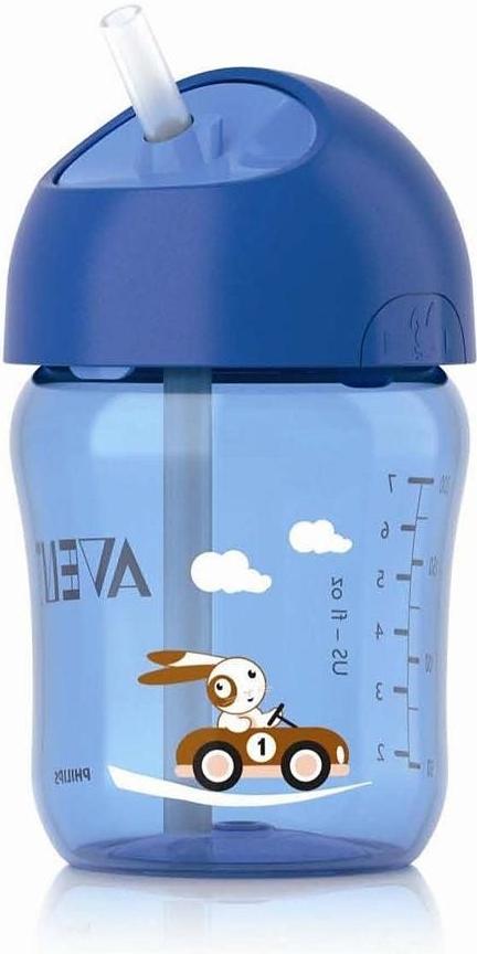 AVENT Hrneček s brčkem 260ml od 12 měsíců barva: modrá