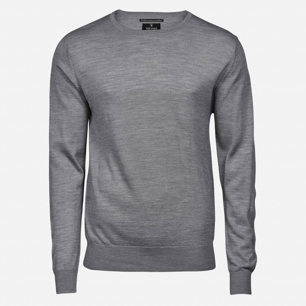 Svetlosivý merino sveter