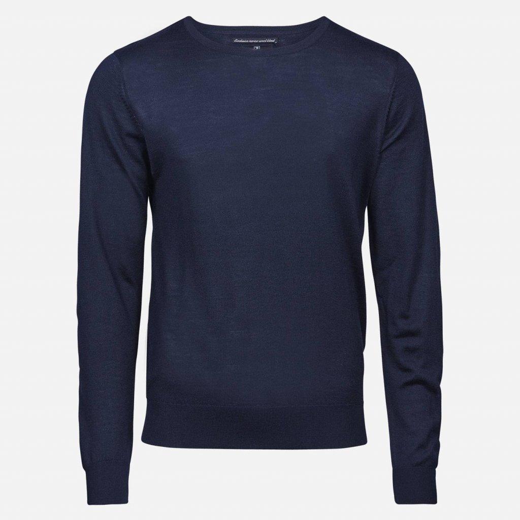 Tmavomodrý merino sveter