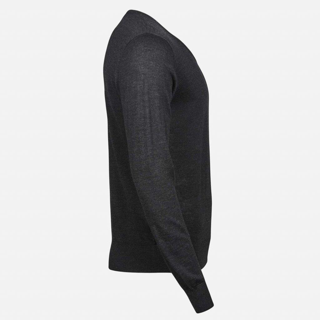 tmavosivy merino sveter V