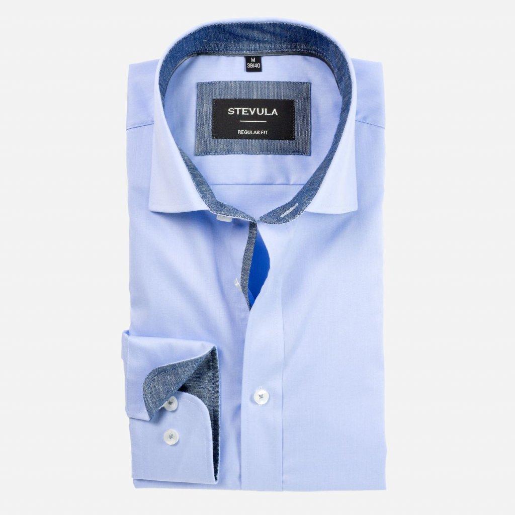 Svetlomodrá košeľa s Non-iron, Regular fit