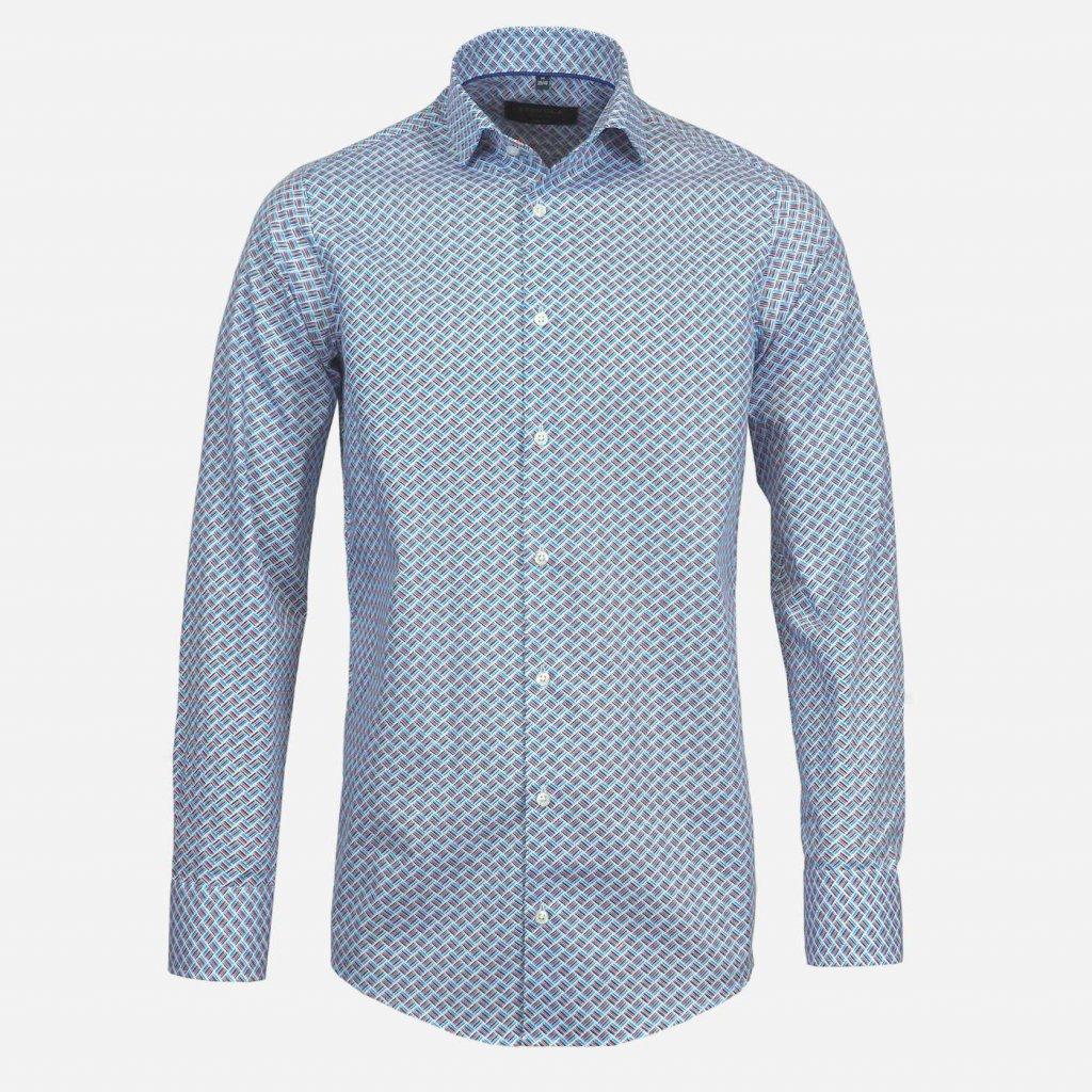 Vzorovaná slim fit košeľa STEVULA