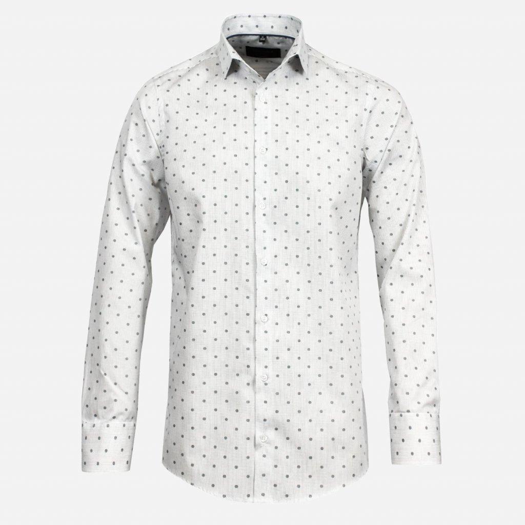 Biela košeľa so vzorom
