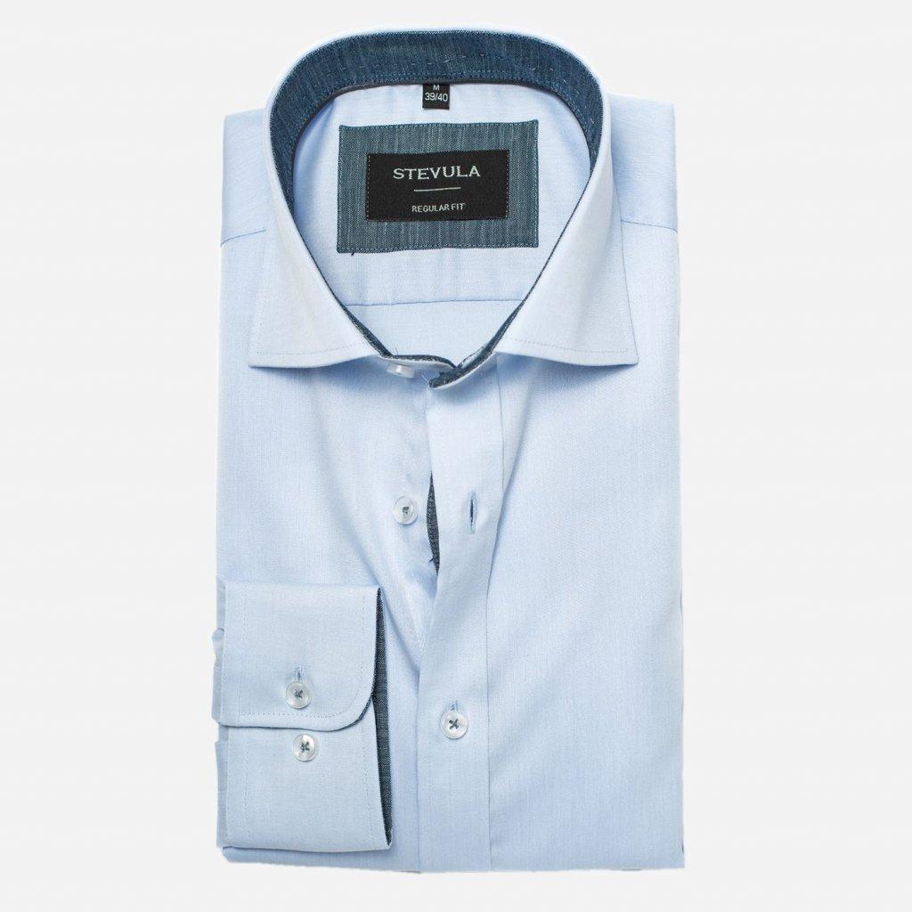 Svetlomodrá košeľa z popelínu, Regular fit