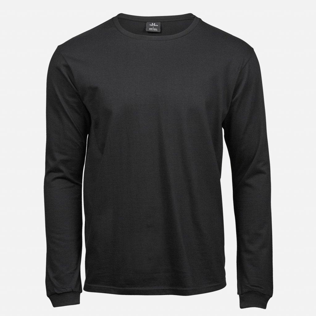 Čierne tričko z organickej bavlny