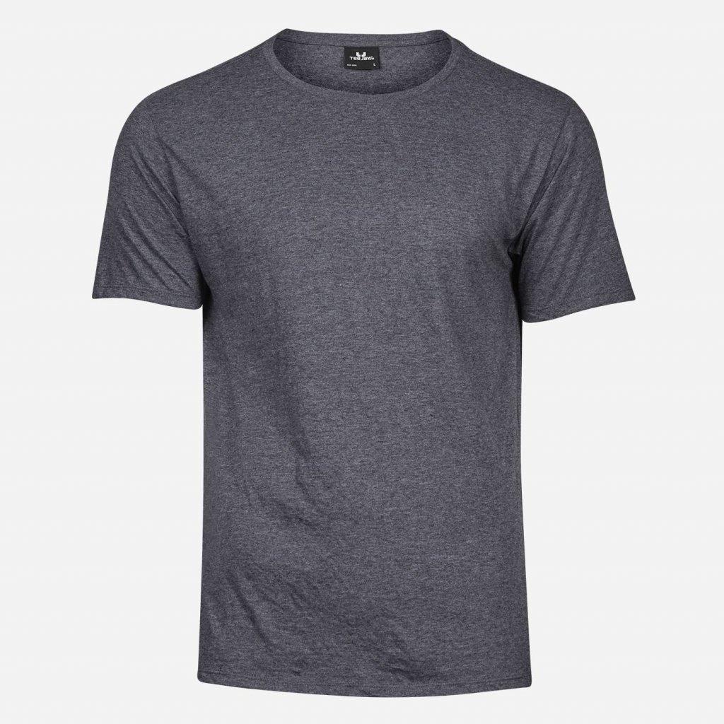 Čierne melírované tričko