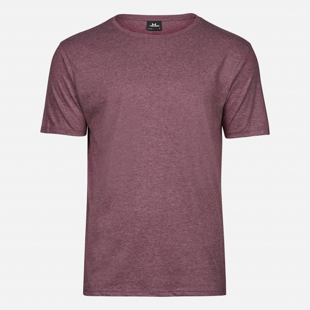 Bordové melírované pánske tričko