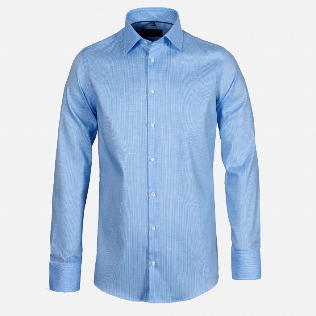 Modrá košeľa so štruktúrou