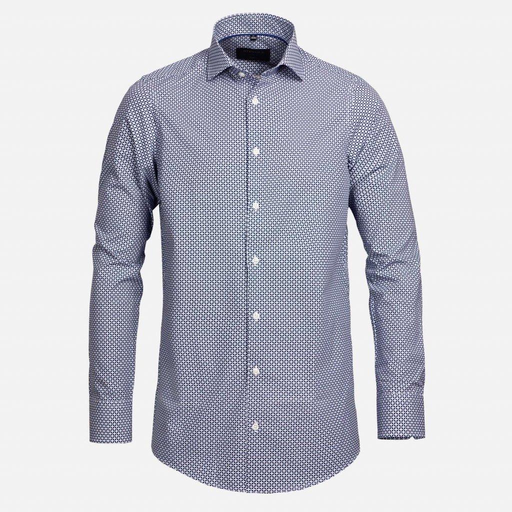 Modrá vzorovaná košeľa