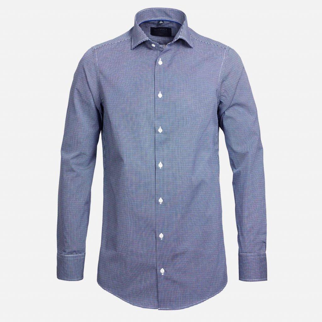 Modrá kockovaná košeľa