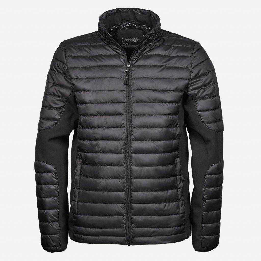 Čierna bunda so softshellom