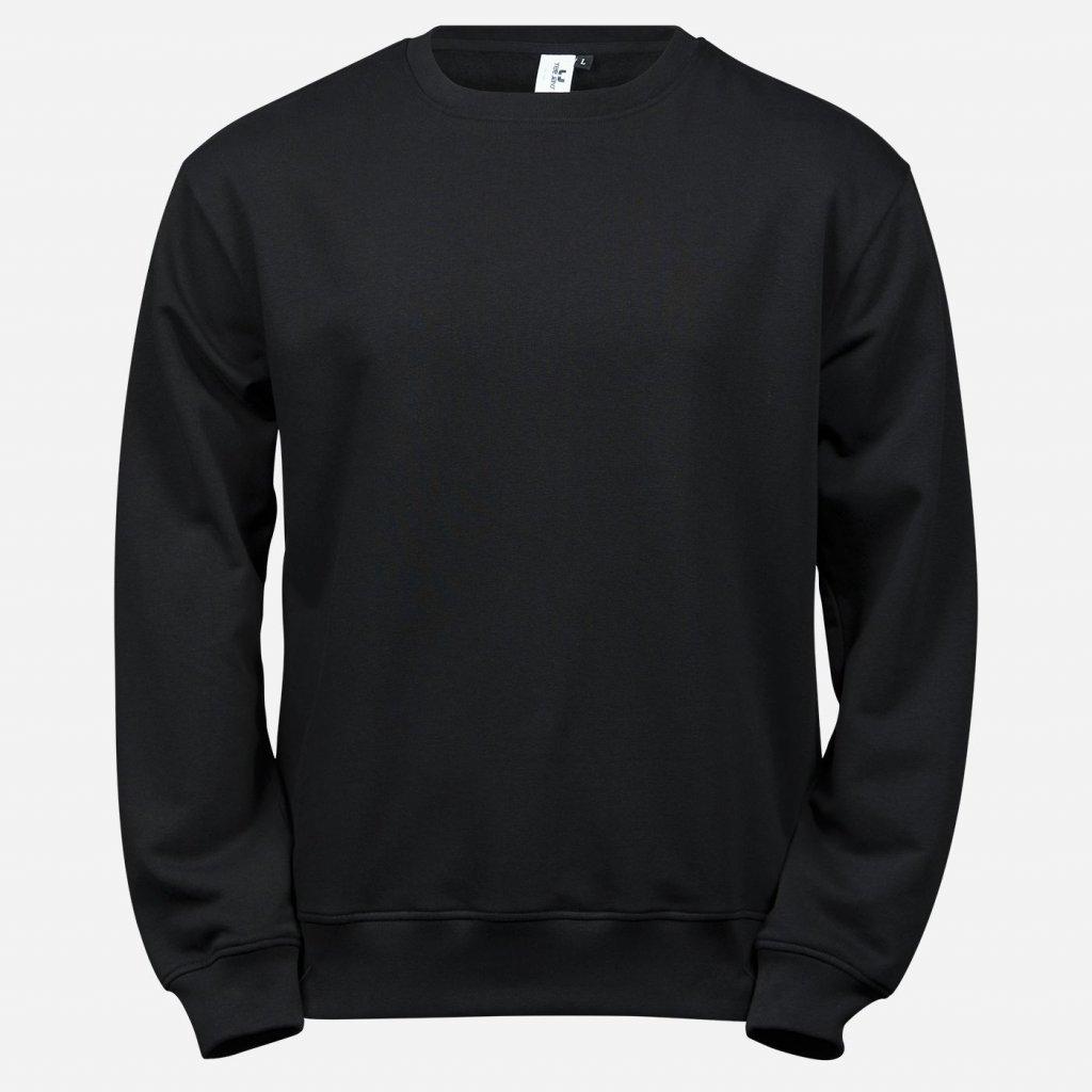 Čierna basic mikina