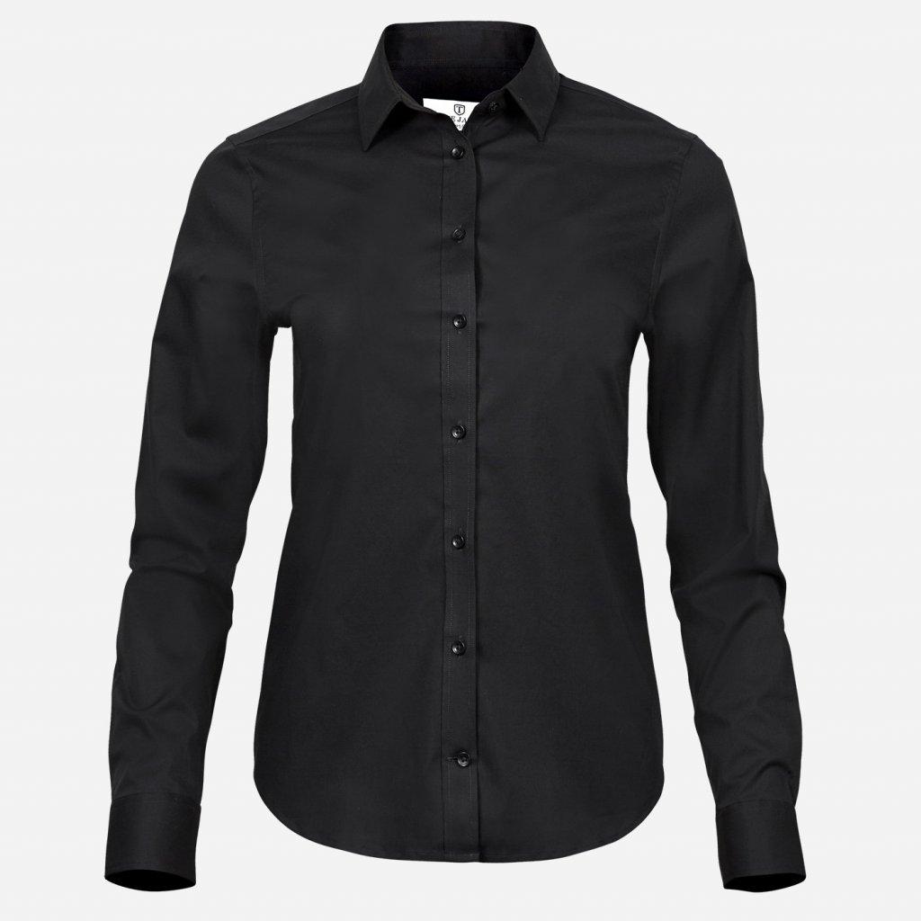 Čierna dámska košeľa