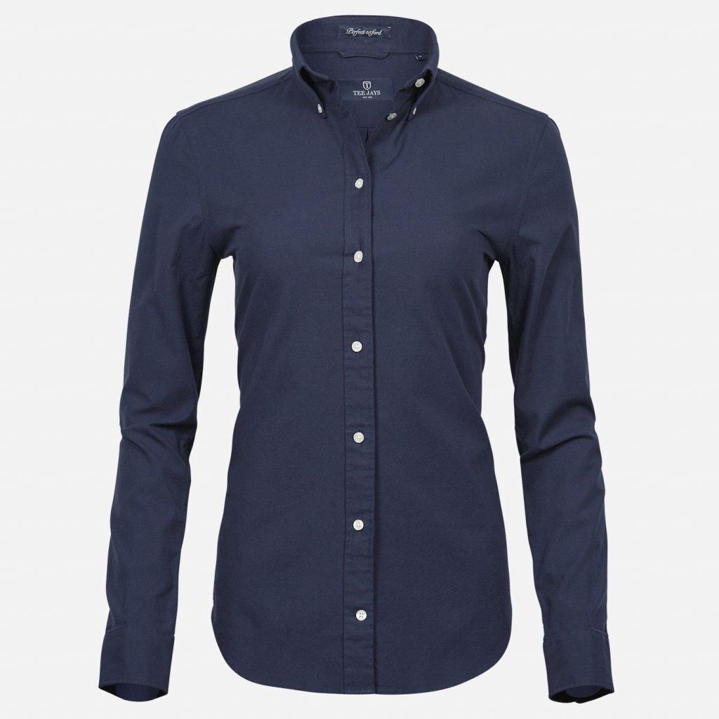 Modrá oxford košeľa