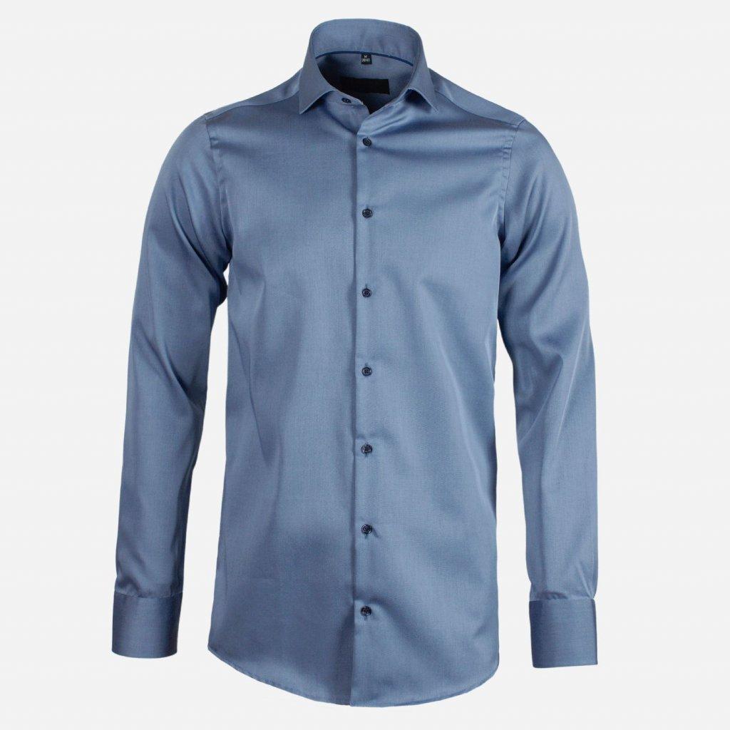 Modrosivá pánska košeľa