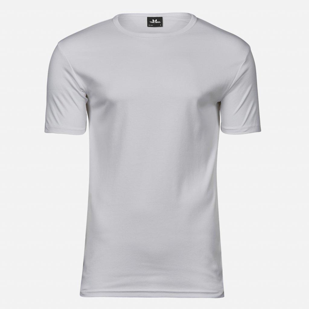 Biele extra slim fit tričko