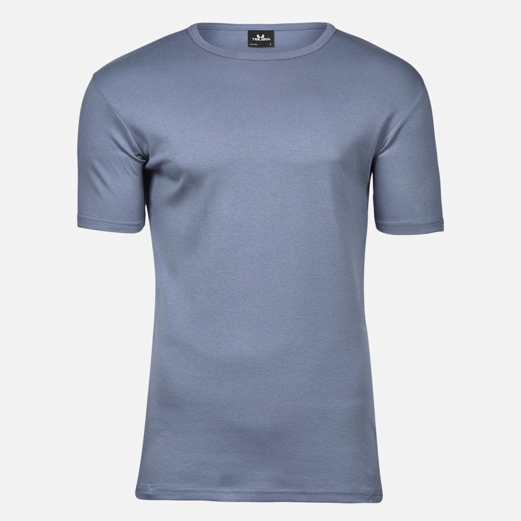 Oceľovo modré tričko