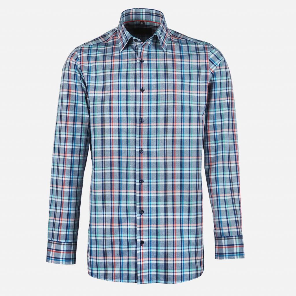 Károvaná pánska košeľa, Regular fit