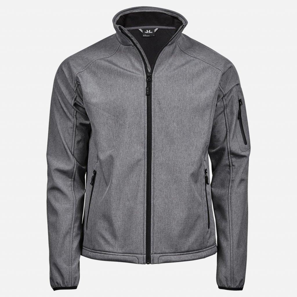 Sivá softšelová bunda