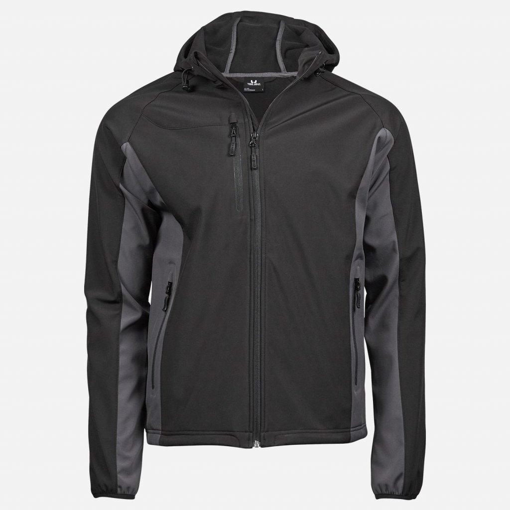 Čierna softshellová bunda