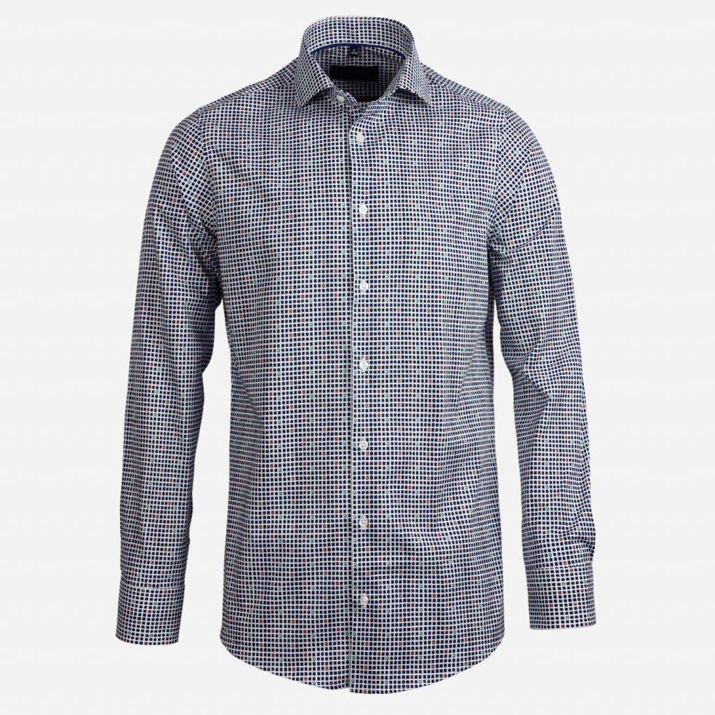 Vzorovaná slim fit košeľa