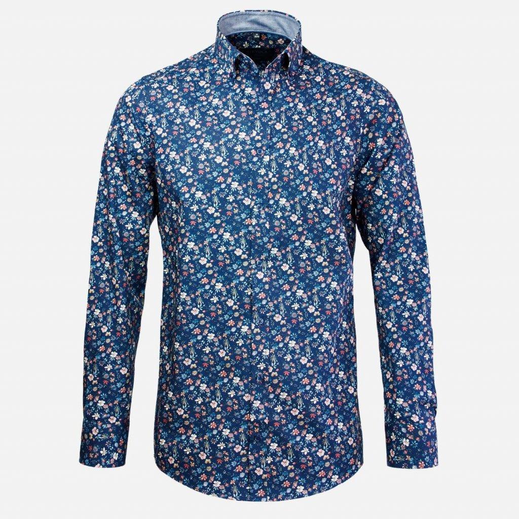 Floral print pánska košeľa