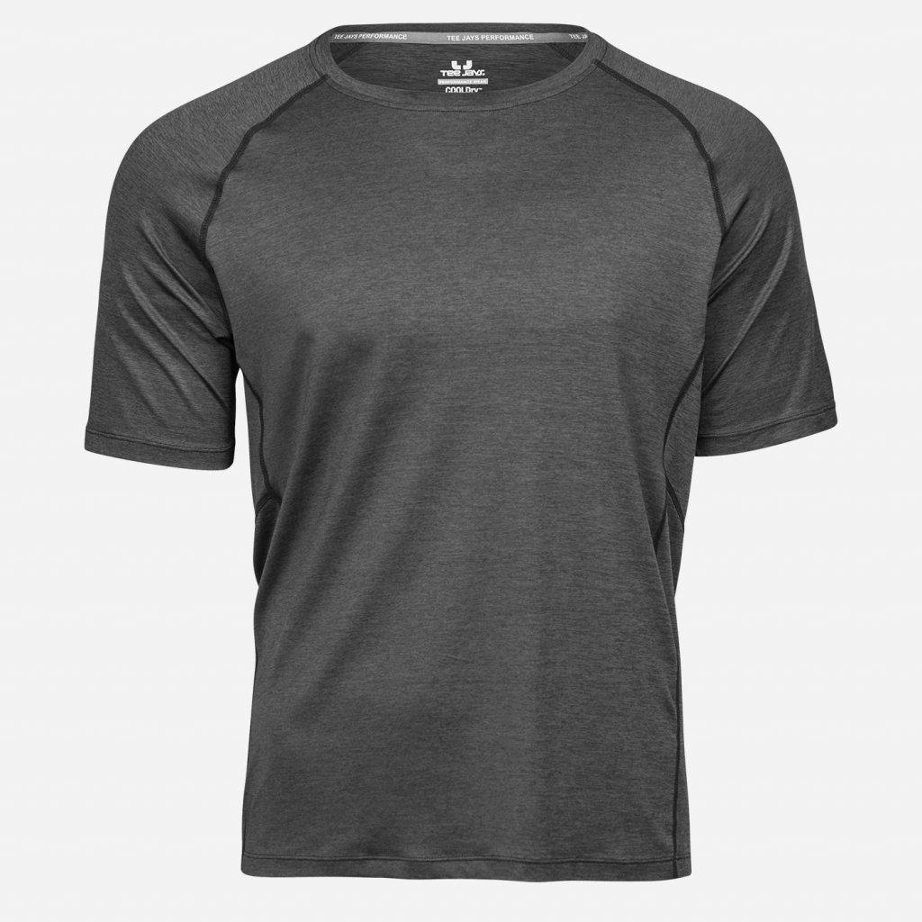 Čierne melírované športové tričko